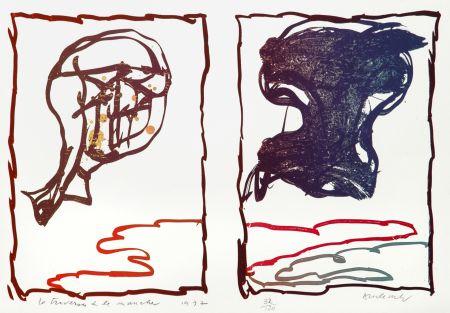 Lithograph Alechinsky - La Traversée de la Manche