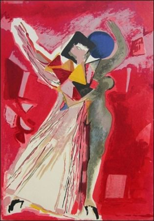 Lithograph Marini - La Traviata