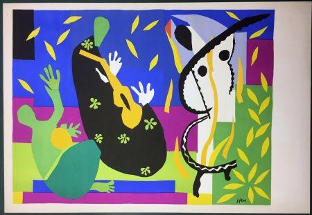 Lithograph Matisse - La Tristesse Du Roi. Lithographie Sur Arches 1952 (Tirage Original)