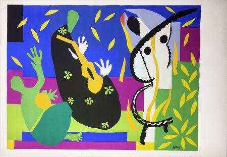 Lithograph Matisse - LA TRISTESSE DU ROI. Lithographie sur Arches 1952 (tirage original édité par Tériade)