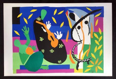 Lithograph Matisse - LA TRISTESSE DU ROI. Lithographie sur Arches 1958 (tirage original)