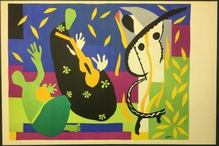 Lithograph Matisse - LA TRISTESSE DU ROI. Lithographie sur vélin 1952 (tirage original)