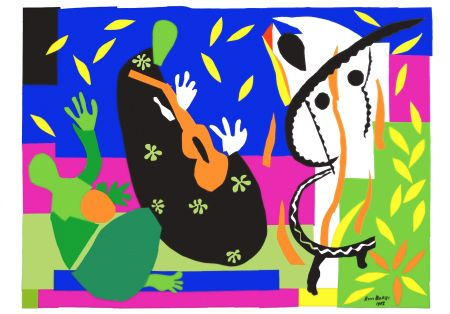 Lithograph Matisse - La Tristesse du roi (The Sorrows of the King)