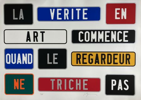 Screenprint Ducorroy - La Vérité