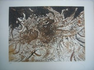 Etching And Aquatint Prassinos - La vague