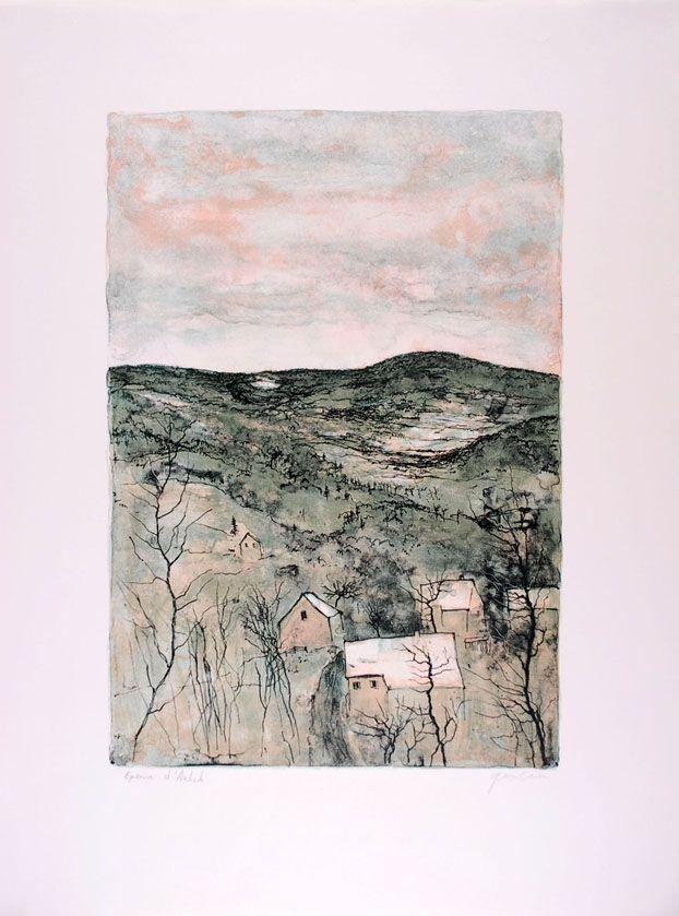 Lithograph Gantner - La Vallée - The Valley