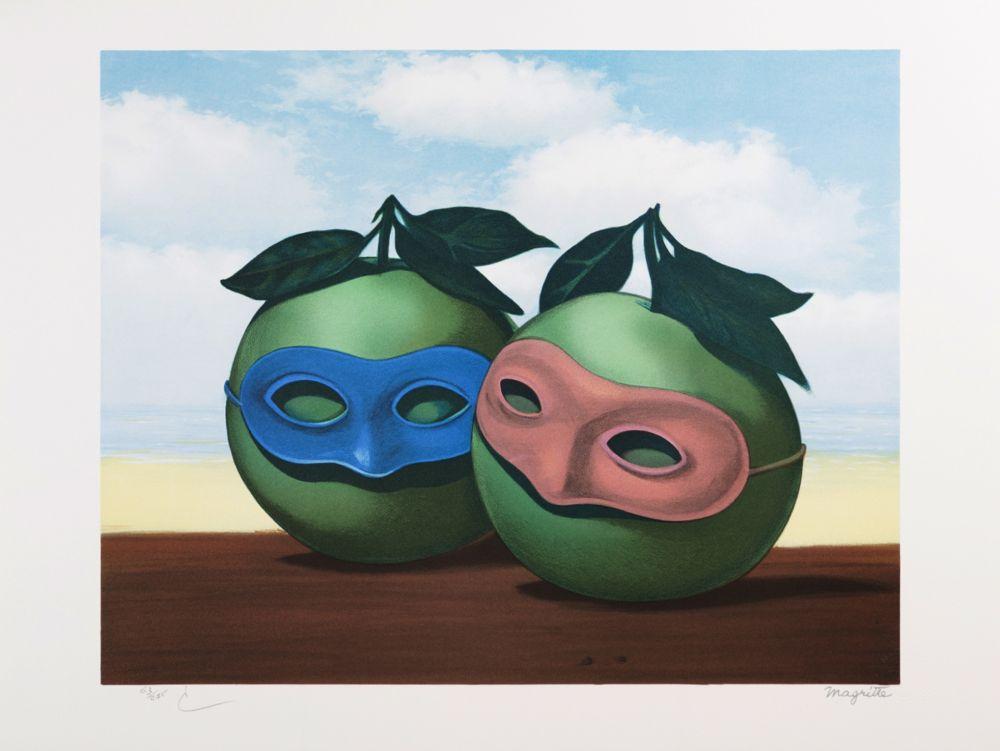 Lithograph Magritte - La Valse Hésitation (The Hesitation Waltz)