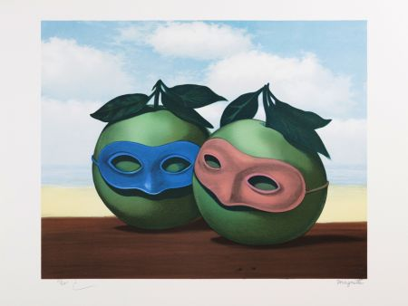 Lithograph Magritte - La Valse Hésitation (The Hesitation Waltz)
