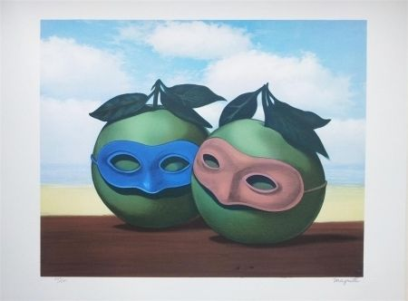 Lithograph Magritte - La Valse Hésitation (The Hesitation Watlz)