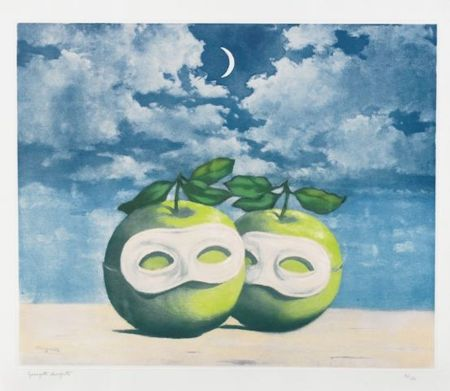Etching And Aquatint Magritte - La Valse Hesitation