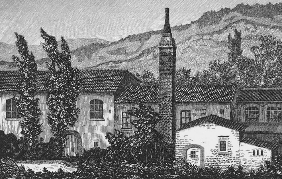 Engraving Mongatti - La vecchia fornace