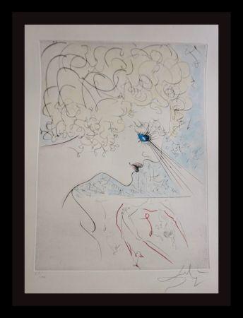 Etching Dali - La Venus Aux Fourrures The Head