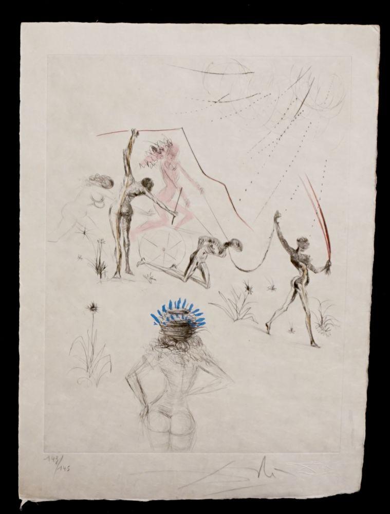 Etching Dali - La Venus aux Fourrures The Negresses