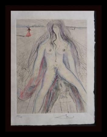 Etching Dali -  La Venus aux Fourrures Woman on Horse