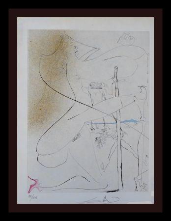 Etching Dali - La Venus aux Fourrures Woman With Crutch