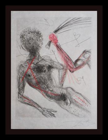 Etching Dali - La Venus Aux Fourrures Woman With Whip