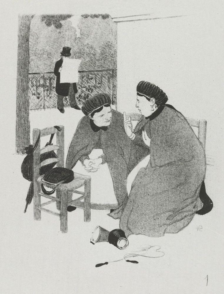 Lithograph Hermann-Paul - LA VIE DE MADAME QUELCONQUE en dix tableaux lithographiés par HERMANN-PAUL