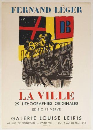 Lithograph Leger - La Ville  Galerie Louise Lieris
