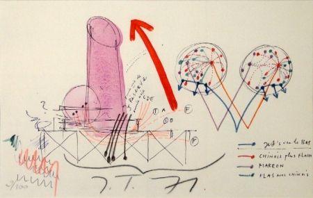 Lithograph Tinguely - La Vittoria.