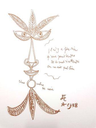 Lithograph Cocteau - La Voix