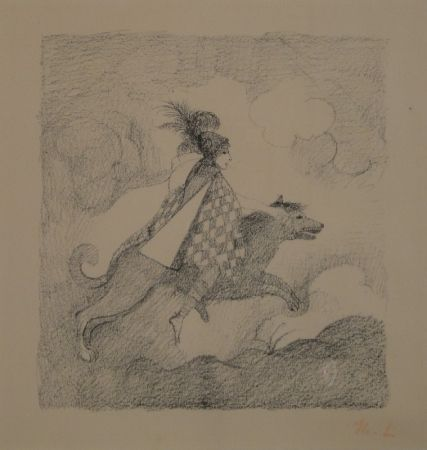 Lithograph Laurencin - La voyageuse