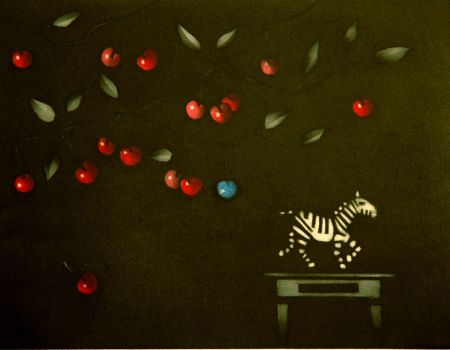 Mezzotint Avati - La zebre a Montmorency
