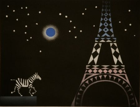 Mezzotint Avati - La zebre a Paris