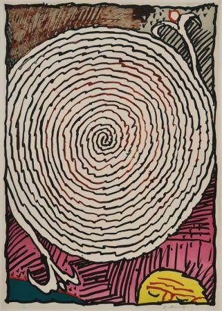 Lithograph Alechinsky - Labyrinthe d'apparat IV
