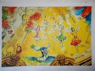 Lithograph Chagall - Lac des cygnes
