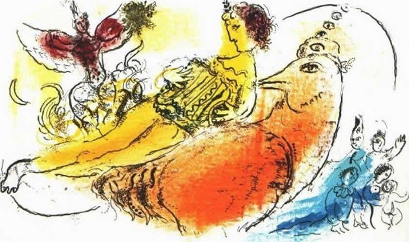 Lithograph Chagall - L'Accordeoniste