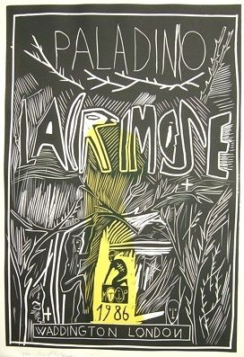 Woodcut Paladino - Lacrimose