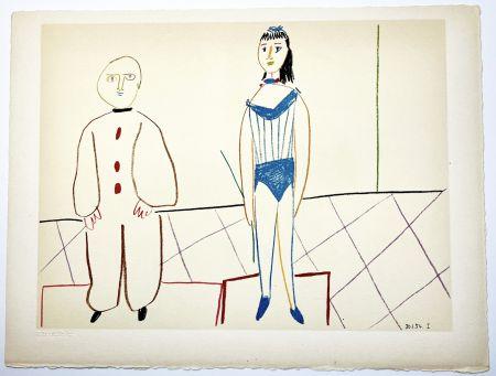 Lithograph Picasso - L'Acrobate et le Clown (de La Comédie Humaine - Verve 29-30. 1954).