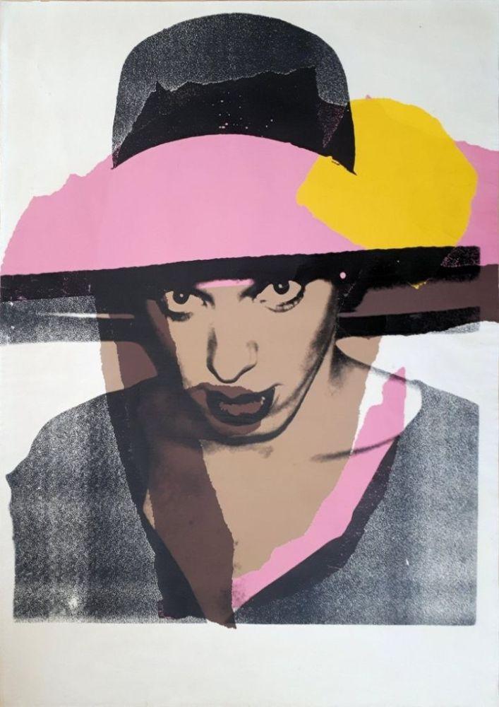 Screenprint Warhol - Ladies & Gentlemen : The pink hat