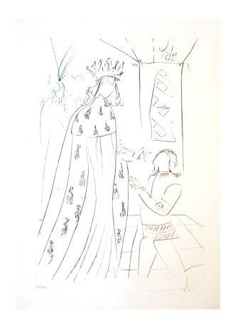 Lithograph Dali - L'Adoubement de Lancelot