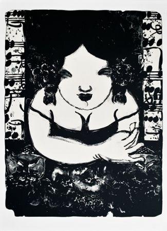 Lithograph Tongzhengang - Lady