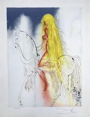 Lithograph Dali - Lady Godiva