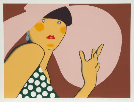 Screenprint Kogelnik - Lady with Hat