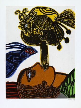 Aquatint Corneille - L'africaine.