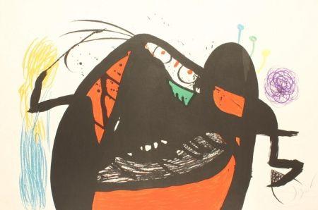 Lithograph Miró - L'AIEULE DES 10,000 AGES
