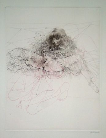 Etching And Aquatint Bellmer - L'aigle mademoiselle
