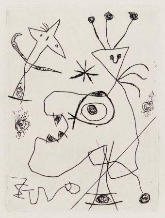 Etching Miró - L'Aigrette