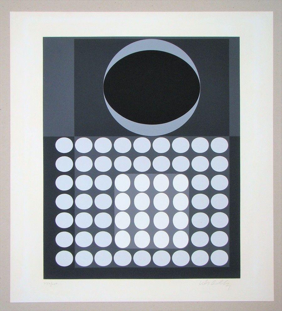 Screenprint Vasarely - Laika