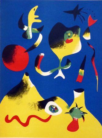 Lithograph Miró - L'Air