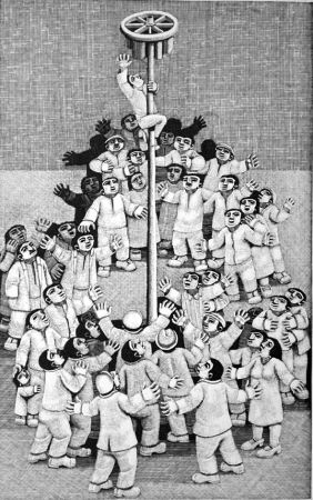 Woodcut Morena - L'albero della cuccagna