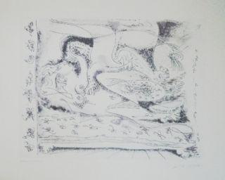 Etching And Aquatint Masson - L'aleore lantée