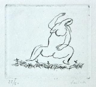 Engraving Fautrier - L'Alleluiah-petit nu E