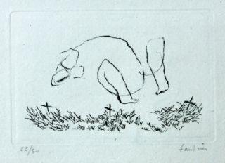 Engraving Fautrier - L'Alleluiah-petit nu M