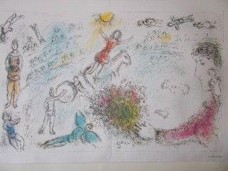 Lithograph Chagall - L'ame du cirque