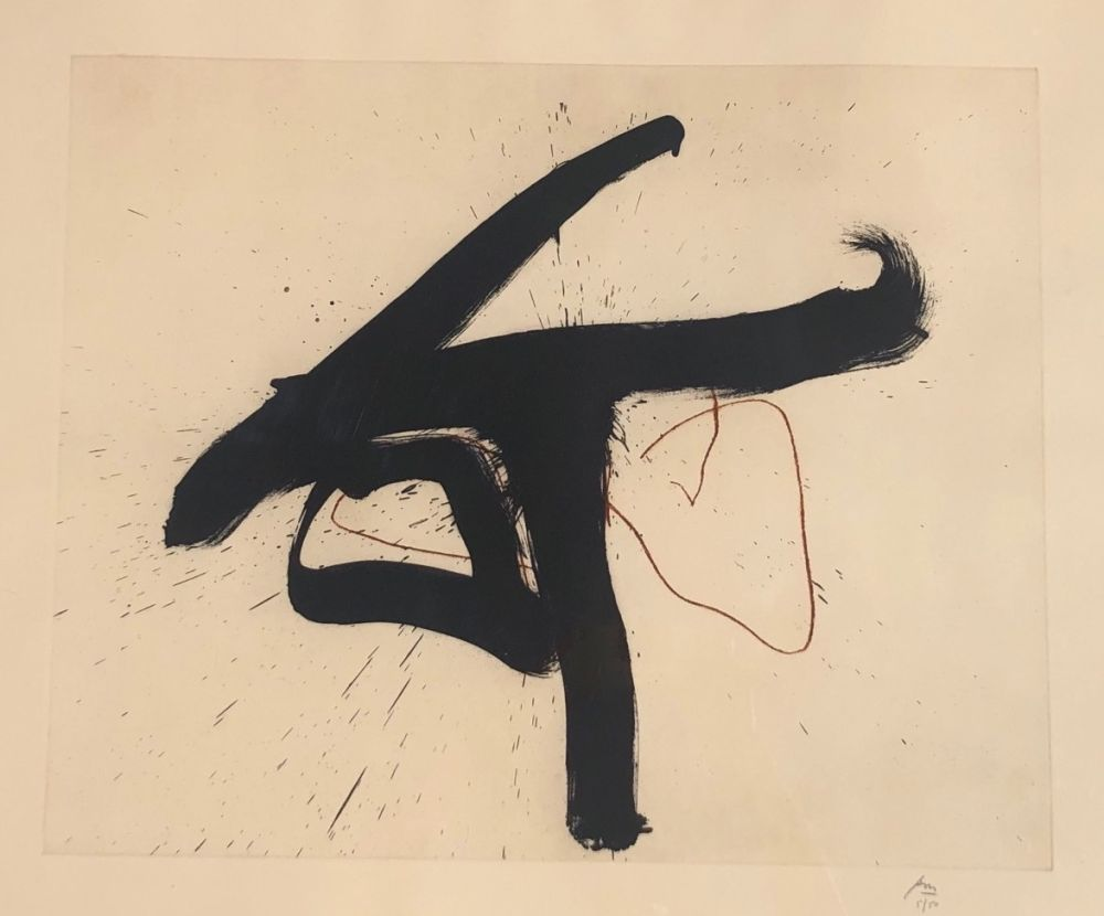Etching And Aquatint Motherwell - Lament for Lorca
