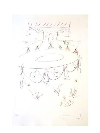 Lithograph Dali - Lancelot Compagnon de la Table Ronde